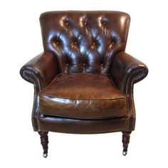 Bentley Tufted Leather Club Chair
