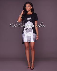Chic Couture Online - Cece Black Graphic T-Shirt Dress, $45.00 (http://www.chiccoutureonline.com/cece-black-graphic-t-shirt-dress/)