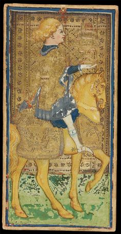Bonifacio Bembo | The Knight of Cups | Visconti-Sforza Tarot Cards | Italy, Milan | ca. 1450–1480 | The Morgan Library & Museum