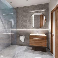 łazienka w szarosci - Łazienka, styl nowoczesny - zdjęcie od All Design Agnieszka Lorenc