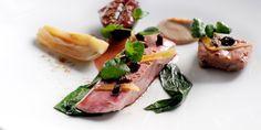 Agnar Sverrisson prepares a triumphant duck dish, adding confit fig, five-spice and fennel to the plate.