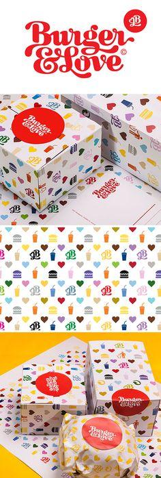 Burger & Love #branding + #packaging                                                                                                                                                      More