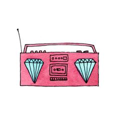 These blingin' Tattlys by Marc Johns are sure to rock. Get it? It's music, and it's cubic zirconia. So go out there and rock this rockin' Tattly of rocks (rock on!).
