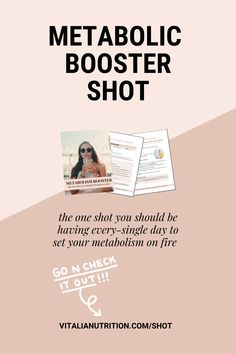 Increase calorie burning, reduce belly fat and boost your metabolism with this simple shot.