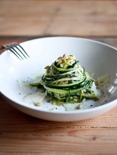 Zucchini linguine #food #recipe