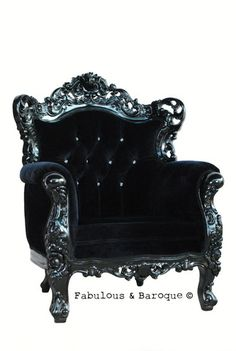 Belle de Fleur Chair - www.fabulousandbaroque.com.  A perfect place to cuddle into along with a creepy read and a vintage port.
