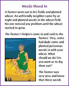 Weeds Mixed In (Parable of Tares and Wheat) - Kids Korner - BibleWise