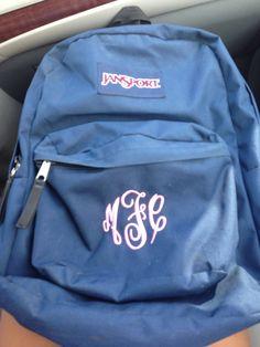 Monogrammed Jansport Backpack | backpacks | Pinterest | JanSport ...