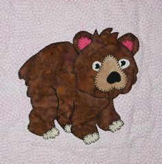 Bear PDF applique quilt block pattern baby quilt by MsPDesignsUSA