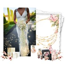 Vintage Inspired Bride by saachistyle on Polyvore featuring Betsey Johnson, Christian Dior, Too Faced Cosmetics, MAC Cosmetics, Vince Camuto and vintage