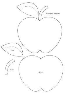 Free Felt Apple Sewing Pattern / Template