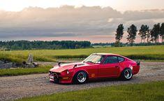 Cupé rojo, Nissan, Japón, rojo, hermoso, 240z, Datsun, Fondo de pantalla HD