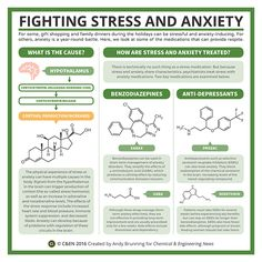 This is an infographic describing the biochemistry of stress and anxiety.