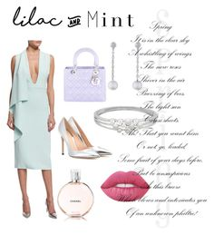 """Lilac and Mint!"" by maria-theresa-gavieres-padua on Polyvore featuring interior, interiors, interior design, home, home decor, interior decorating, Christian Dior, Cushnie Et Ochs, Gianvito Rossi and Doris Panos"