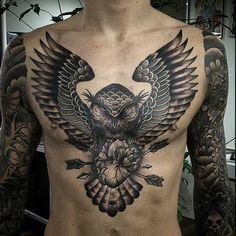 Discover tattoodo tattoos owl tattoo chest, tattoo designs и Tribal Tattoos, Tattoos Masculinas, Skull Tattoos, Black Tattoos, Body Art Tattoos, Sleeve Tattoos, Tattoos For Guys, Tattoos For Women, Tattos