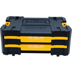 The TSTAK® Shallow Drawers have two drawers to store your small bits and products needed to complete your projects. Stack other TSTAK® components with the TSTAK® drawers and customize your storage needs while on the go. Tool Storage, Storage Boxes, Storage Organization, Dewalt Tstak, Plastic Tool Box, Portable Tool Box, Small Parts Organizer, Dewalt Power Tools, Socket Organizer