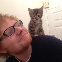 Graham is the cutest kitty in the world.   Ed Sheeran Is The Cat Lover You Should Aspire To Be