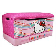 I like gender-neutral, but I can't resist this Hello Kitty toy box for my daughter's room!