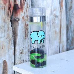 Our classic print is now on your favorite water bottle! Stay hydrated and know you helped save the elephants with every sip! of liquid - BPA Free - Twist off cap - Made with Tritan & Si (Water Bottle With Times) Printed Water Bottles, Cute Water Bottles, Water Bottle With Times, Save The Elephants, Stuff And Thangs, Bottle Painting, Healthy Fruits, Voss Bottle, Projects To Try