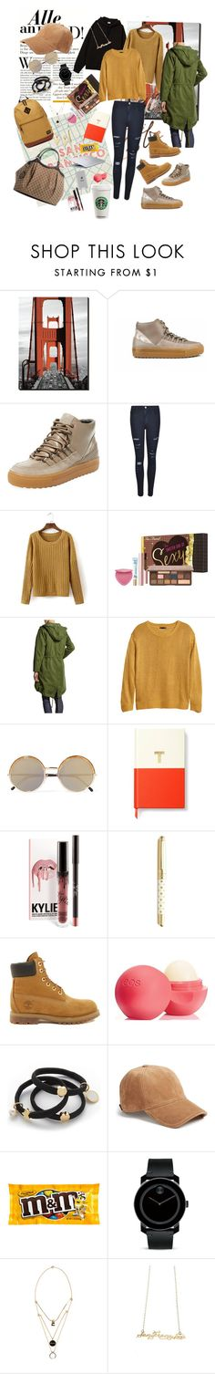 """San Francesco student style 🌉"" by beuniquety on Polyvore featuring Ateljé 71, Frame, Too Faced Cosmetics, Marc by Marc Jacobs, H&M, Belkin, MAC Cosmetics, Cutler and Gross, Kate Spade and Timberland"