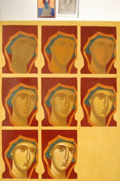 Byzantine Icons, Byzantine Art, Religious Icons, Religious Art, Writing Icon, How To Drow, Face Icon, Jesus Painting, Russian Icons