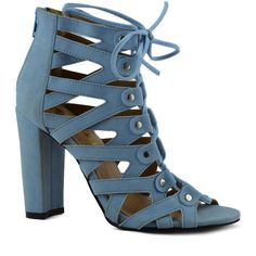 Chase & Chloe Light Blue Spade Sandal ($11) ❤ liked on Polyvore featuring shoes, sandals, light blue sandals, light blue high heel shoes, high heel sandals, high heel shoes and high heeled footwear