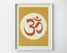Om Print Yoga Print Yoga Studio Decor by LotusLeafCreations