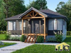 Lubie est un modèle de maison préfabriquée signé Maître Constructeur Saint-Jacques. Cette mini maison usinée est à découvrir sans attendre. One Story Homes, Saint Jacques, First Story, Centre, Cabin, House Styles, Mini, Home Decor, Main Street
