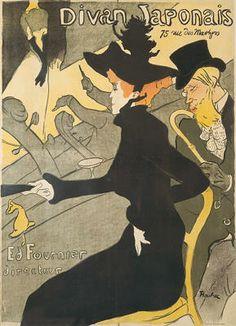 Henri De Toulouse-Lautrec Ballerina | Henri de Toulouse Lautrec Le Divan Japonais Vintage Art Print Poster ...