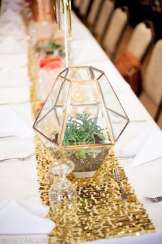 7 Tips To Pull Off A Budget Wedding (and Pictures!) - Vintage Revivals - All of the terrariums were upcycled from thrift store lights. Wedding Table Centerpieces, Flower Centerpieces, Wedding Decorations, Table Decorations, Centrepieces, Budget Wedding, Diy Wedding, Wedding Planning, Wedding Ideas