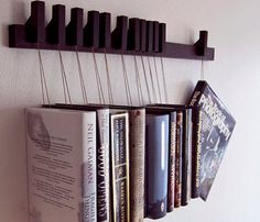 Jeito criativo de organizar poucos livros !