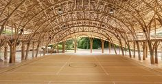 Breathtaking bamboo building withstands earthquakes and boasts a zero-carbon footprint   Inhabitat - Green Design, Innovation, Architecture, Green Building