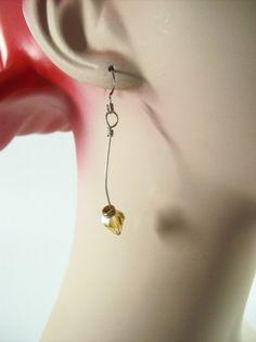 Edgy Crystal Dangle Earrings | JulisJewels - Jewelry on ArtFire