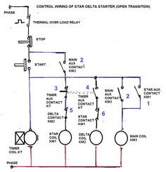 star delta wiring diagram control installing two way light switch three phase motor connection without timer power introduction most induction motors are started directly on line but when very large that they cause a disturbance of voltage