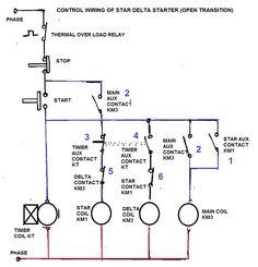 Dol Starter Panel Wiring Diagram Save Start Stop And Motor