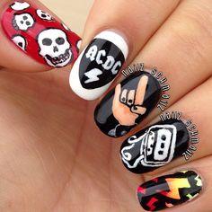 AC/DC by nailzschmailz #nail #nails #nailart