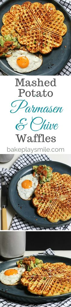 Mash Potato, Parmesan and Chive Waffles