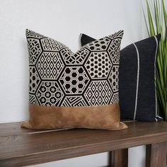 Your place to buy and sell all things handmade Leather Throw Pillows, Fall Pillows, Leather Pillow, Boho Pillows, Diy Throw Pillows, Modern Pillows, Boho Dekor, Décor Boho, Fabric Decor