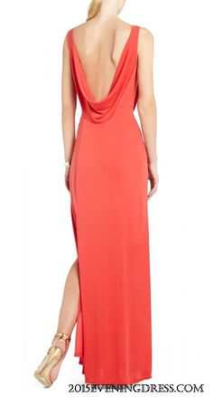 BCBG LENA DRAPED GOWN
