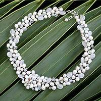 Pearl and quartz choker, 'Bridal Bouquet' by NOVICA     These are some of the loveliest hand-crafted items I've seen.  The company is affiliated with National Geographic.