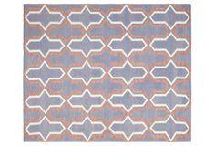 "Pola Dhurrie, Purple/Multi  (Safavieh) Doesn't this rug say ""wake up!"""
