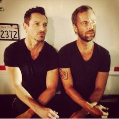 Teen Wolf ~ Ian Bohen and Jr Bourne . . . wrapping up the last episode of season 4