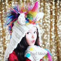 This listing is for a PDF PATTERN ONLY for Rainbow Unicorn Hooded Scarf, this is NOT a finished product. All patterns are written in standard US terms Sizes: Toddler (2T - 4T), Child (5 years - 10 years), Teen - Adult *** You can always contact me if you have any questions with the pattern. I am happy to help if you have any questions along the way ***NO REFUNDS on patterns *** There is no shipping charge for this item as it is a PDF file and will be sent out within 24 hours of payment. I...
