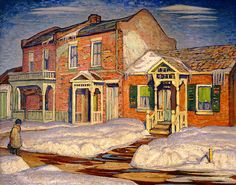Franklin Carmichael - Red House Winter, 1925 (Canadian, Group of Seven, Tom Thomson, Emily Carr, Group Of Seven Art, Group Of Seven Paintings, Maurice Denis, Canadian Painters, Canadian Artists, Claude Monet, Henri Matisse