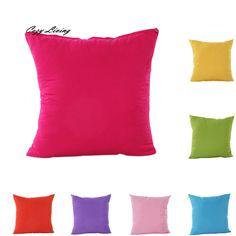 Pillow Cases 45*45CM 6 Colors Solid Throw Pillow Cases Cotton Linen Square Pillow Cover Simple  Pillowcase Wholesales D7 #Affiliate