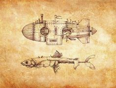 A few days ago I published a post about steampunk illustration tutorials. To further investigate this universe, I suggest you to discover more illustration Steampunk Kunst, Steampunk Artwork, Steampunk Airship, Dieselpunk, Da Vinci Inventions, Steampunk Illustration, Computer Generated Imagery, Nemo, Patent Drawing