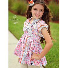 Gracie Girl Wake Up Alarm Clock Donatella Tunic by LilyandEbony AllegroFabrics Sewing Kit Sizes 2-7/8,,Allegro Fabrics, sewing kit, kits, kit, patterns, sewing pattern, fabric, kids, sewing, sew, pattern, fabrics, cotton, DIY, girls, dress, outfit, spring, summer, clothes, allegrofabrics,