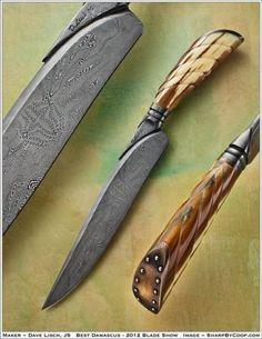 "2012 Blade Show Award in Atlanta for ""Best Damascus"" - Dave Lisch, JS"