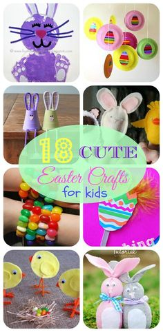 18 cute Easter crafts for kids #easter