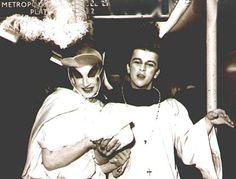 Boy George and Steve Strange at The Blitz Club- steve strange (original door whore)